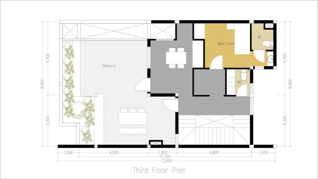 5 Bedroom 4 Story House Plan 8x11m - Sam Phoas Home