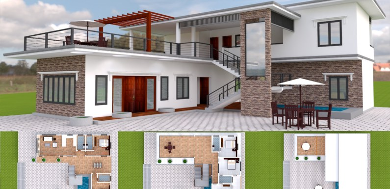 5 Bedroom Modern Villa Design 15x17m