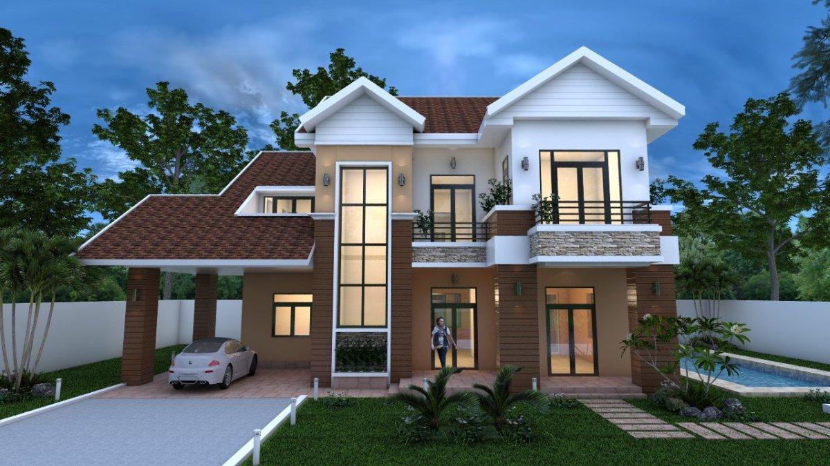 3 Bedroom Villa Design 16.8x11m