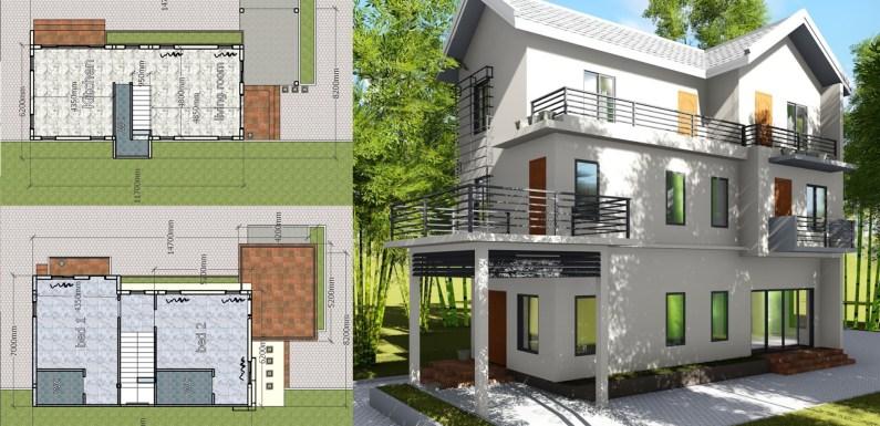 4 Bedroom House 8.2×14.7m