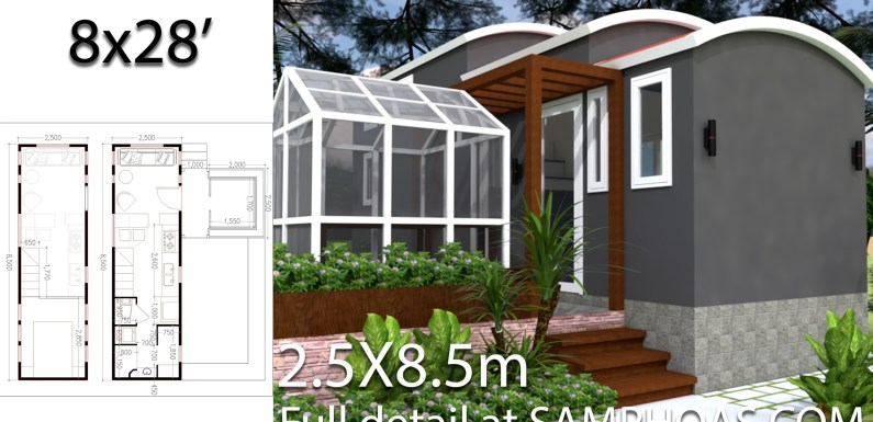 Dream Tiny House with Green house and Interior Design