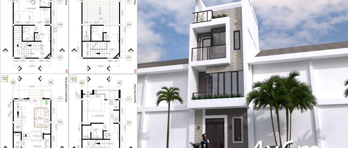 Small Modern House Designs Plan 4×6 Meter