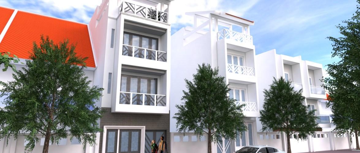 Sketchup 4 Story Narrow House 4.5x13m