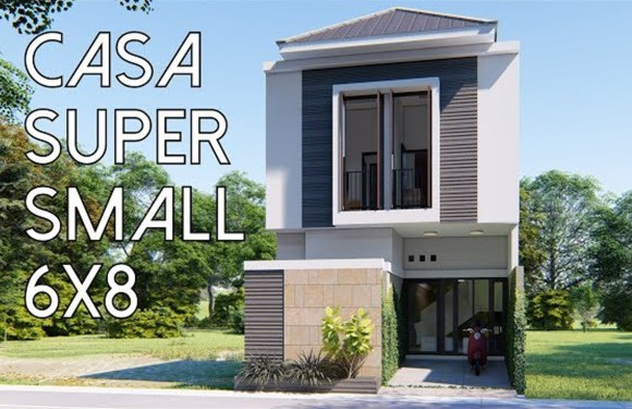 Super Small home Plan 6x8m