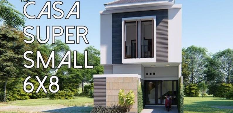 Super Small home Plan 6x8m