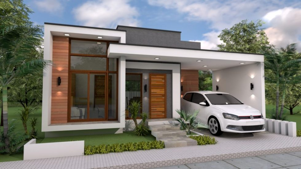 Home Plan 10x12m 3 Bedrooms