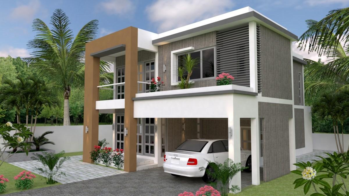 Sketchup Speed Build 3 Bedrooms Home Plan 30x38