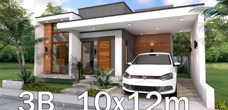 3 Bedrooms Home Design Plan 10x12m