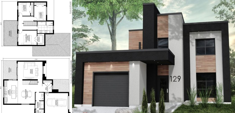 Modern House Design 40×49 with 3 bedrooms