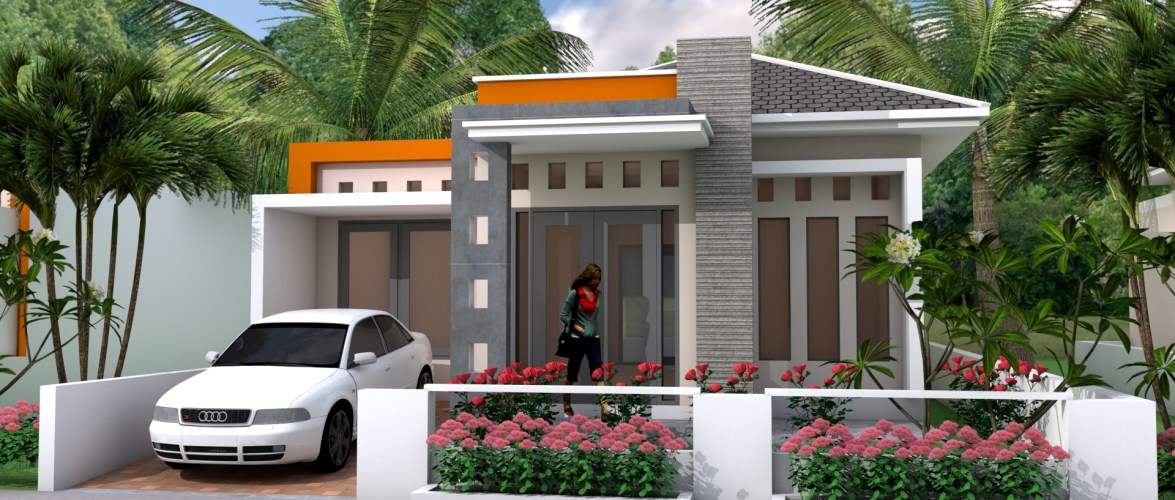Sketchup 2 Bedrooms House 9x14M