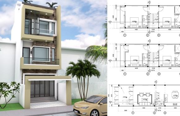 4.5x11m Narrow Home Lot Design