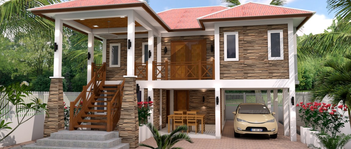 5 Bedrooms Home Design Plan 9x10m