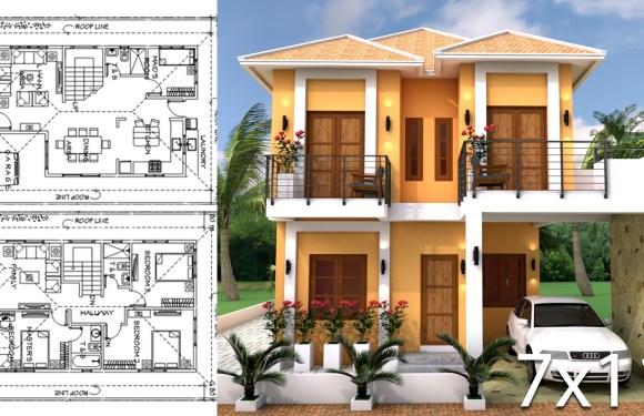 Sketchup Modeling Home Plan 7×11