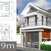 Home Design Plan 6.5x9m with 2 Bedrooms