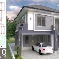 4 Bedrooms Home Design Plan 8x10m