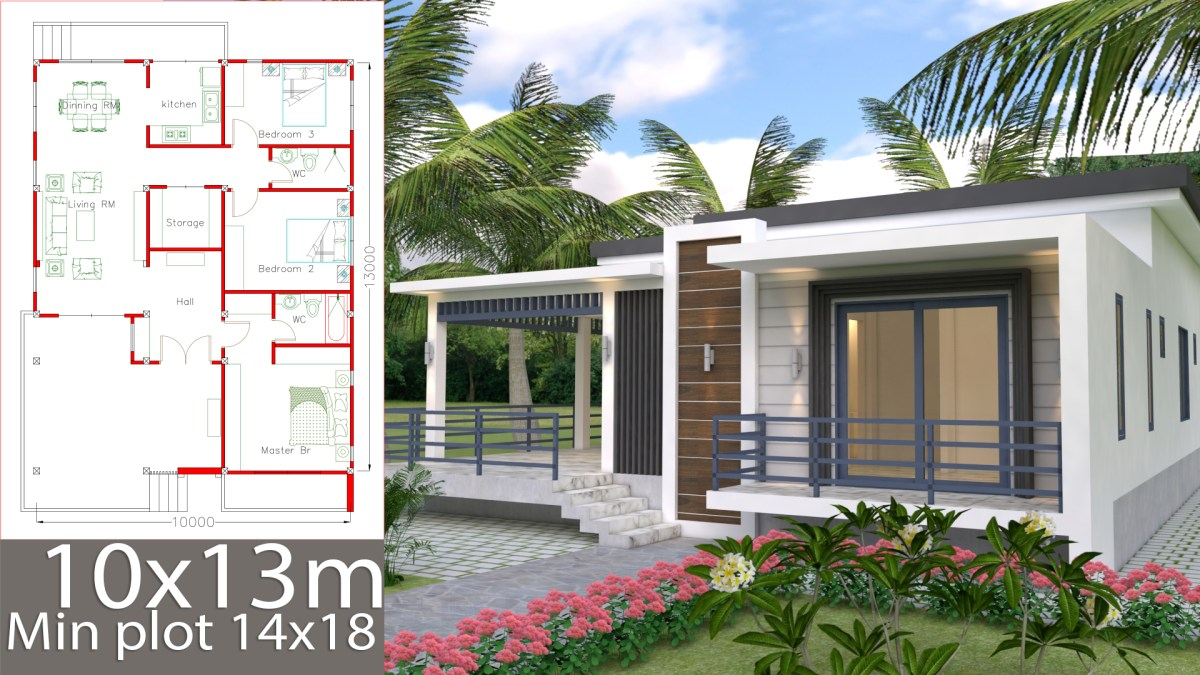 Sketchup Home Design Plan 10x13m