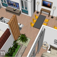 Interior Design Home Plan 8x20m Walk Through