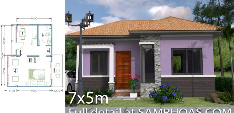 Sketchup Home Design Plan 7x5m Studio Room