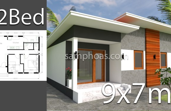 Plan 3d Home Design 9x7m 2 Bedrooms