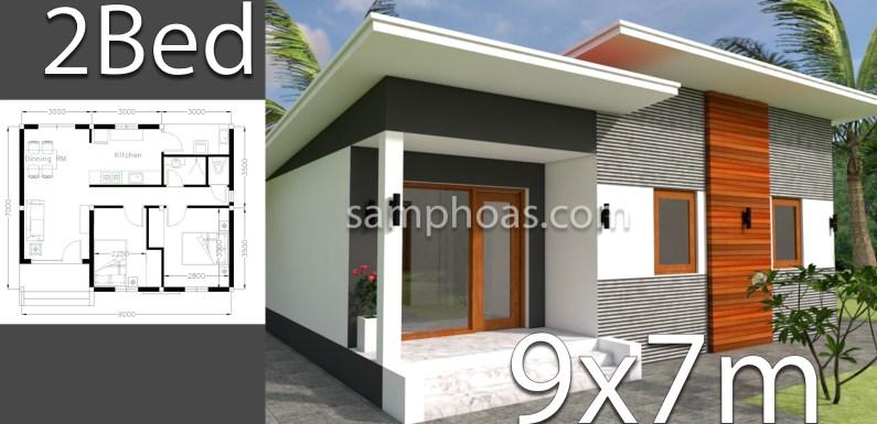 Plan 3d Home Design 9x7m 2 Bedrooms