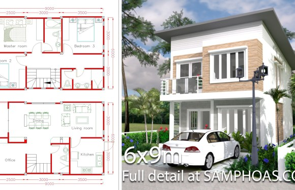 Simple Home Design Plan 6x9m with 3 Bedrooms