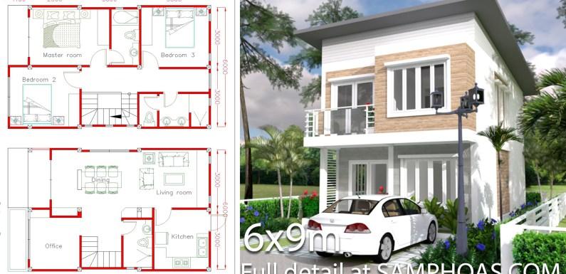 Simple Home Design Plan 6x9m With 3 Bedrooms Samphoas Plan