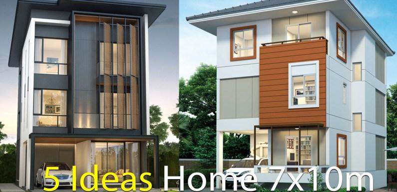 5 Ideas Home design plan 7x10m
