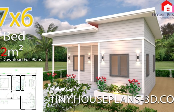 House Plans 7×6 with One Bedroom Shed Roof