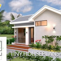 Small House Plans 5x7 with One Bedroom Gable Roof