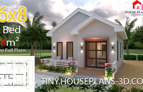 Studio Room House Plans 6×8 Gable Roof