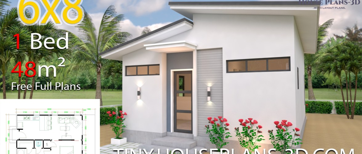 Studio Room House Plans 6×8 Shed Roof