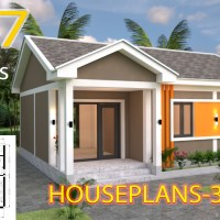 House Design Plans 9x7 with 2 Bedrooms Gable Roof