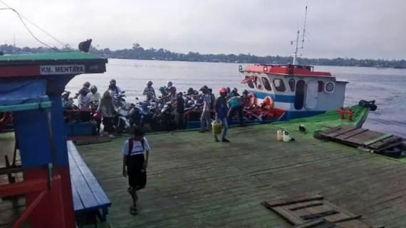 Masyarakat Mentaya Seberang Keluhkan Pembonceng Dikenakan Tarif Rp 2.000