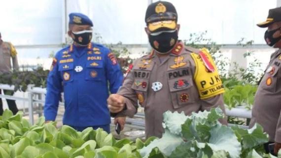 Kapolda Kalteng Apresiasi Inovasi Green House Untuk Ketahanan Pangan Nasional