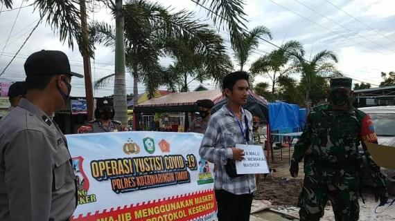 Polsek Baamang Gelar Operasi Yustisi Pendisiplinan Protokol Kesehatan Kepada Masyarakat