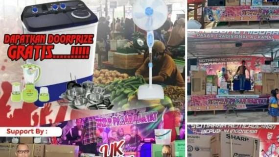 Pasar Tradisional Al Kamal Sampit Menjamin Keamanan dan Kebersihan saat Pandemi Covid-19