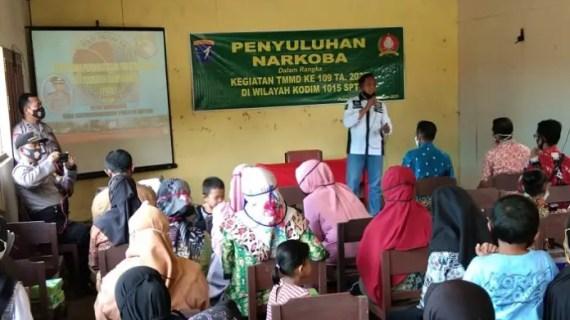 Sosialisasi Narkoba oleh Satgas TMMD Jadi Daya Tarik Masyarakat Pulau Hanaut