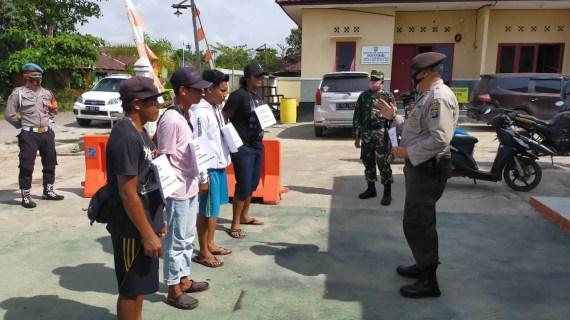 Polsek Kotabesi Giatkan Operasi Yustisi Pendisiplinan Prokes