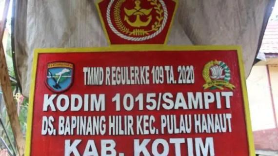 Dandim 1015 Sampit Harap Masyarakat Terus Gelorakan Semangat Gotong Royong