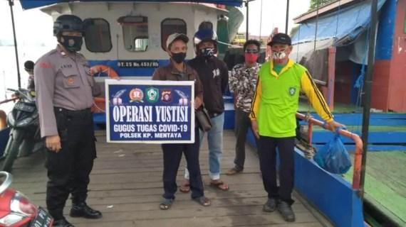 Polsek Kawasan Pelabuhan Mentaya Gelar Operasi Yustisi Penegakan Protokol Kesehatan