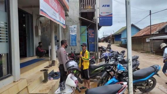 Polsek Mentaya Hulu Tetap Prioritaskan Patroli Musibah Banjir Kelurahan Kuala Kuayan