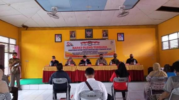 Kapolsek Baamang Hadiri Rapat Pleno Terbuka Rekapitulasi Daftar Pemilih Sementara