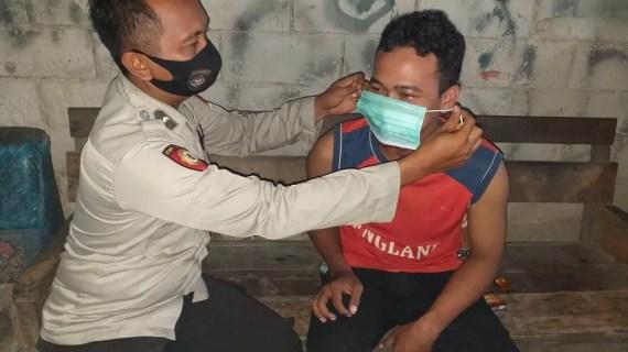Polsek Sungai Sampit Beri Imbauan Protokol Kesehatan di Kecamatan Mentaya Hilir Utara