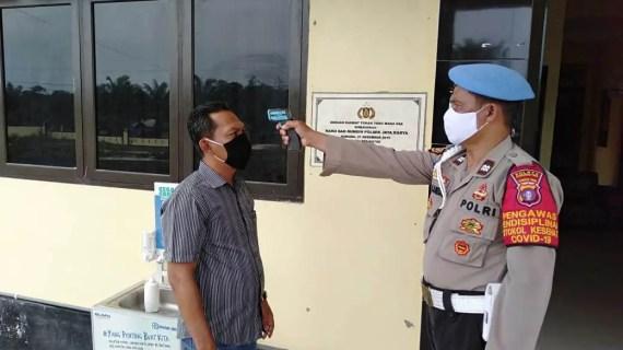 Pengawasan Prokes Internal Polsek Jaya Karya