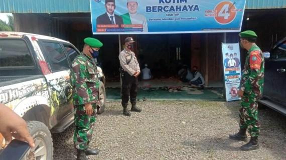 Polsek Mentaya Hulu Dan Koramil 1015-13 Kuala Kuayan bersinergi Pengamanan Giat Kampanye