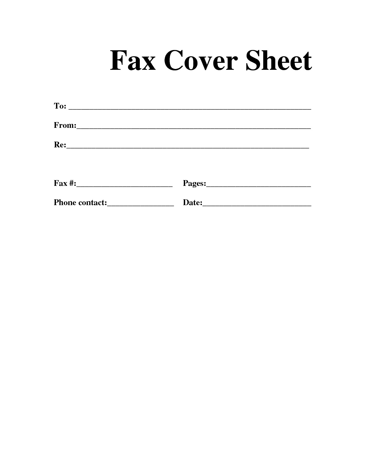 Blank Fax Cover Letter Sheets For Fax Cover Sheet Resume