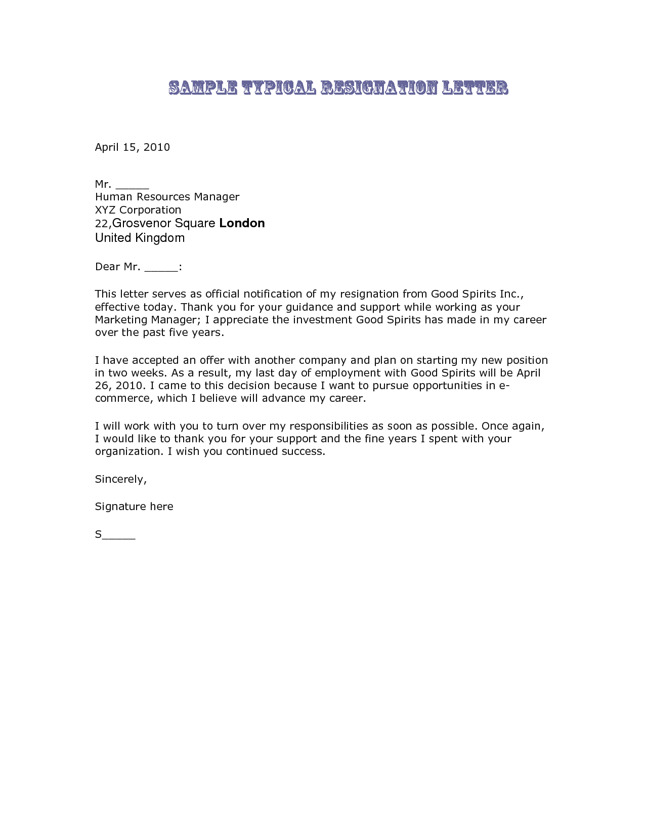 Best Letter Of Resignation The Legal Profession Depends On