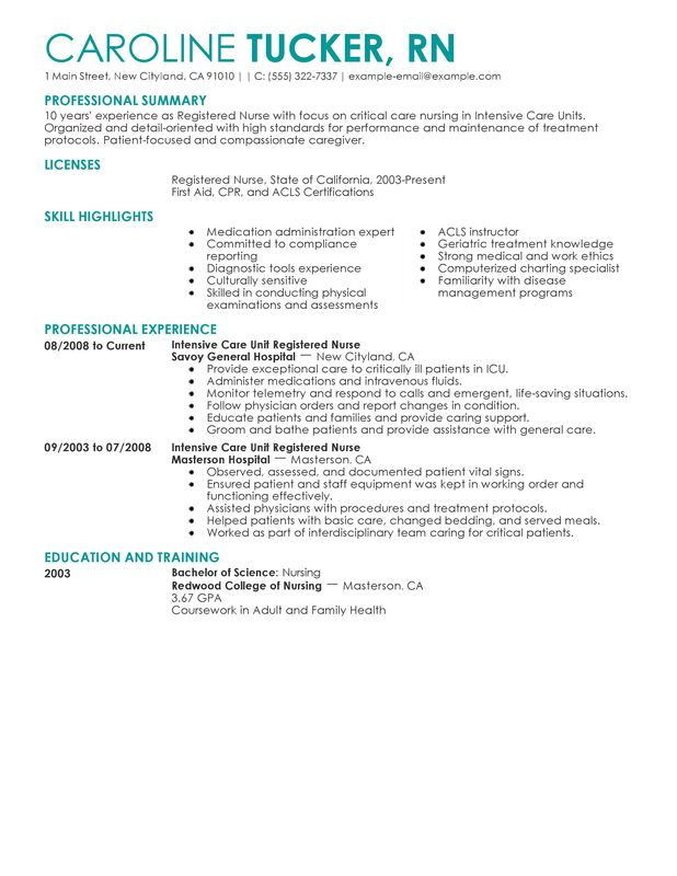 Home Health Nurse Resume Examples  Resume Sample