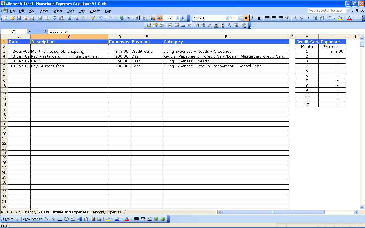5 Free Small Business Income And Expenses Spreadsheet Template