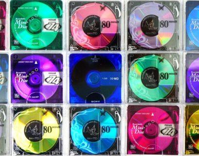 Rows of Minidiscs